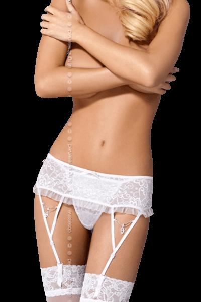 Strapsgürtel weiß