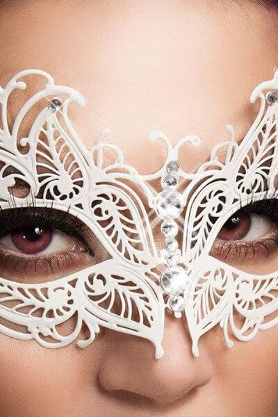 Weiße Maske - Messing