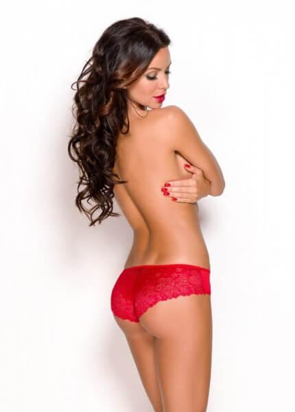 Rote Spitzen Panty