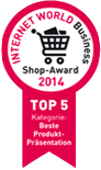 Internet World Business Shop-Award 2014 - 5. Platz