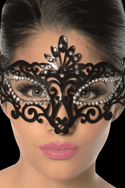 Maske mit Strass - PVC