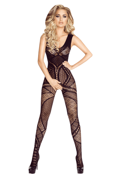 Bodystocking Ouvert mit Muster