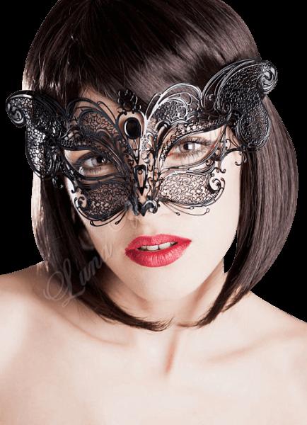 Venezianische Schmetterling Maske - Metall