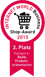 Internet World Business Shop-Award 2015 - 2. Platz