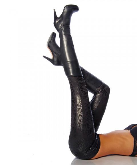 Leggings mit dezentem Muster