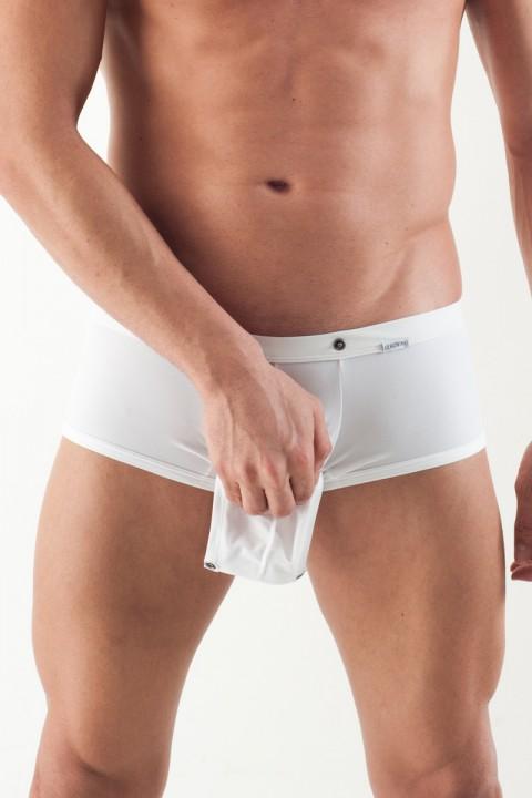 Boxershort mit Öffnung weiß