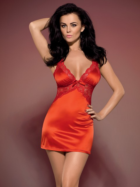 Satin Negligee rot