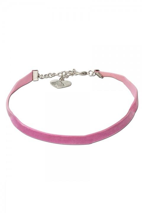 Kropfband aus Samt rosa