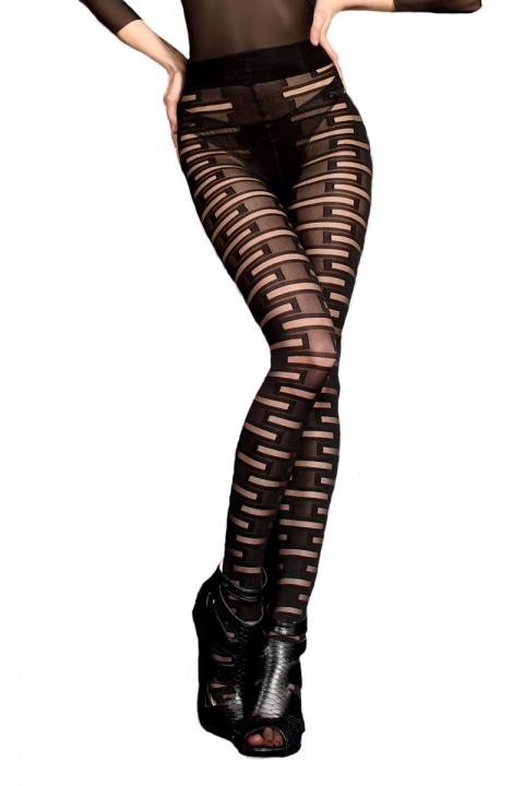 Strumpfhose schwarz mit Muster 20den