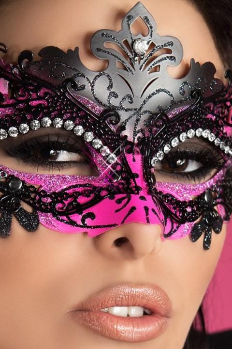 Glitzernde Maske