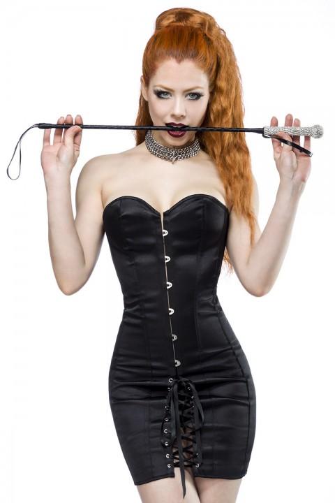 Schwarzes Corsagenkleid