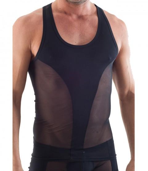 Muskelshirt schwarz/transparent