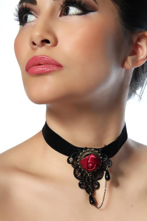 Halskette Satinrose