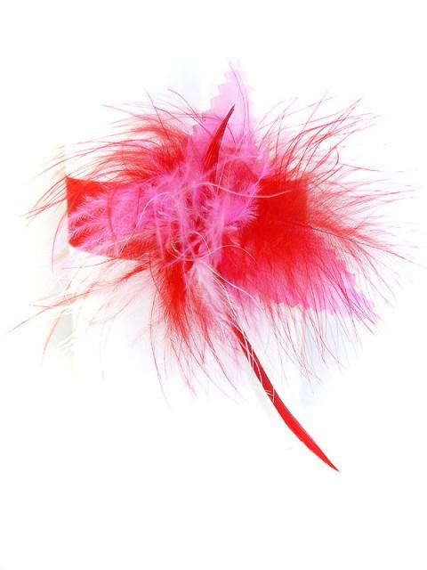Rosa/rotes Federhalsband