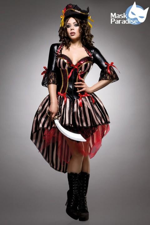 3tlg. Piraten Kostüm