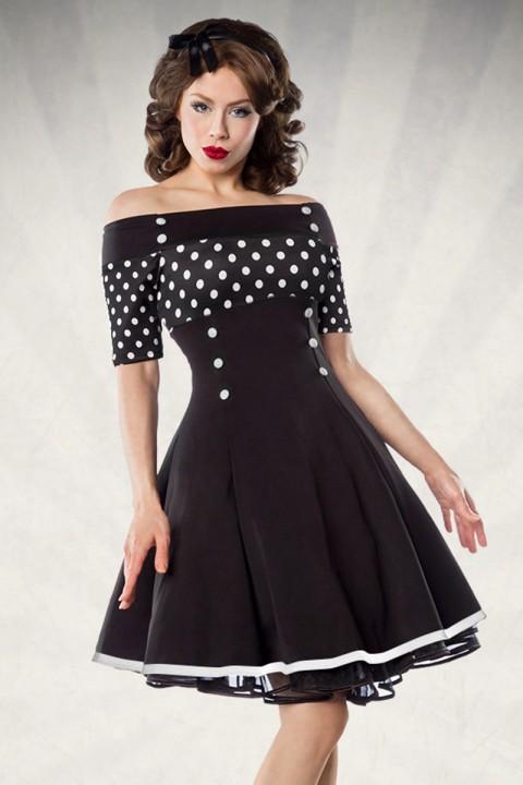 Vintage Kleid schwarz mit Punkten