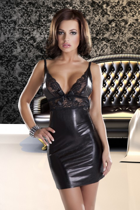 Wetlook Spitzenkleid