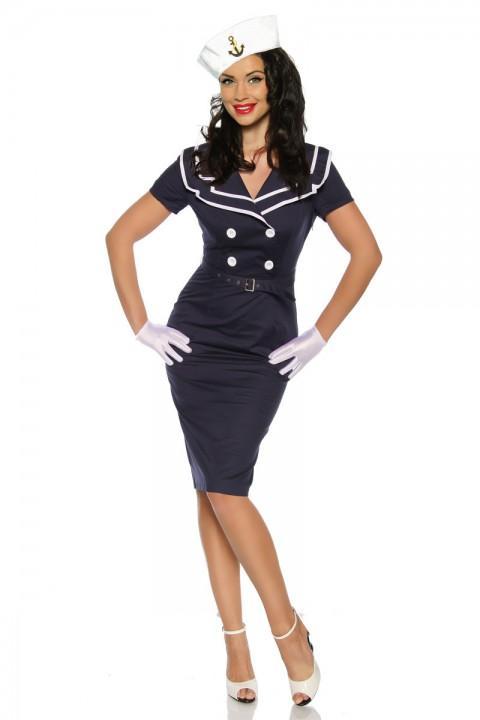 Pin Up Kleid in blau