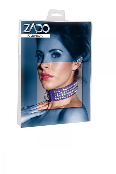 Halsfessel mit Strass lila - Zado